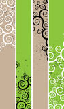 Separated banners. Four separated banner with similar spiral elements for your business Royalty Free Stock Photography