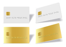 Separated blank chip cards Stock Images