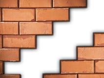 Separated brick wall Royalty Free Stock Photos