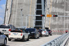 Separated bridge in Fort Lauderdale, Florida Stock Photo