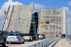 Separated bridge in Fort Lauderdale, Florida Stock Photos