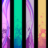 Separated cards. Four separated banner with similar design elements such as rainbow for your text Royalty Free Stock Photo