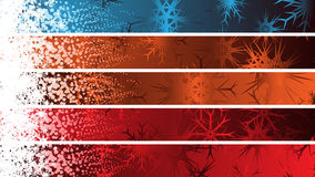 Separated Christmas Banners Stock Photo