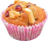 Separated cupcake. With white chocolate and cranberries Stock Images