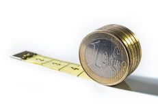 Separated euro value Royalty Free Stock Images