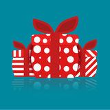 Separated gift box. Royalty Free Stock Image