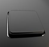 Separated keyboard button made of black plastic Royalty Free Stock Photography