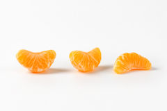 Separated segments of tangerine Royalty Free Stock Photo