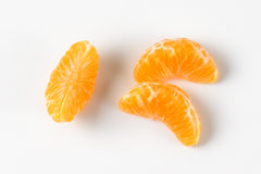 Separated segments of tangerine Royalty Free Stock Images