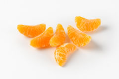 Separated segments of tangerine Stock Photography