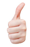Separated thumb up - hand gesture Royalty Free Stock Images