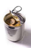 Separated tinned euro coins. Tinned euro coins on white background Royalty Free Stock Images