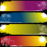 Separated Tropical Banners. For your text Royalty Free Stock Photography