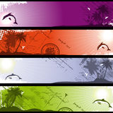 Separated Tropical Banners Royalty Free Stock Image