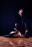 Separation - dancers in ballroom Royalty Free Stock Photography