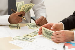 Separation of money. Stock Photography