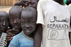 Separation for South Sudan. TEREKEKA, JUNE 11: A boy wears a t-shirt calling for separation of South and North Sudan, in Terekeka, South Sudan, on June 11, 2011 Royalty Free Stock Photography