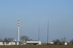 Separation station for oil and gas treatment. Oil and gas equipment. Royalty Free Stock Photography