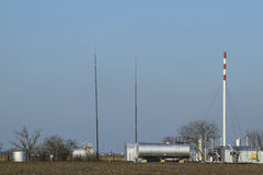Separation station for oil and gas treatment. Oil and gas equipment. Royalty Free Stock Photos