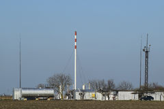 Separation station for oil and gas treatment. Oil and gas equipment. Stock Image