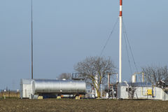 Separation station for oil and gas treatment. Oil and gas equipment. Stock Photos