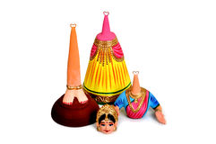 Separation tanjore dance dolls. With white background Royalty Free Stock Image