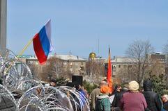 Separatist meeting in donetsk. Ukraine Stock Images