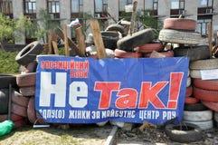 Separatistbaner på barrikaden royaltyfria bilder