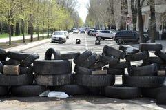 Separatists block roads Stock Photos