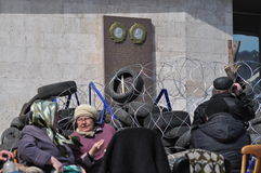 Separatists meeting in Donetsk. Ukraine. Stock Photo
