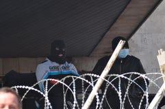 Separatists meeting in Donetsk. Ukraine. Royalty Free Stock Image