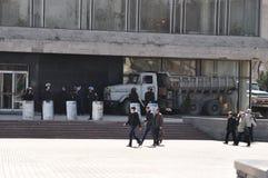 Separatists meeting in Donetsk. Ukraine. Stock Photos