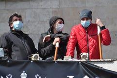 Separatists meeting in Donetsk. Ukraine. Royalty Free Stock Photo