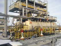 Separator. Equipment for oil separation. Modular oil treatment u. Nit. Bulite for separation Stock Photos