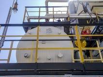 Separator. Equipment for oil separation. Modular oil treatment unit. Bulite for separation. Separator. Equipment for oil separation. Modular oil treatment unit Stock Images