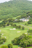 Separatori di sabbia nel campo da golf tropicale Immagine Stock Libera da Diritti