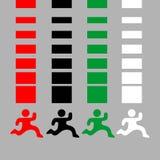 Separators color. Creative design of separators color Royalty Free Stock Image