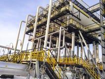 Separators are end. Equipment for oil separation. Modular oil tr. Eatment unit. Bulite for separation. Low pressure separators Stock Photos