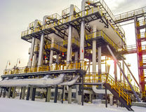 Separators are end. Equipment for oil separation. Modular oil treatment unit. Bulite for separation. Low pressure separators. Separators are end. Equipment for Stock Images