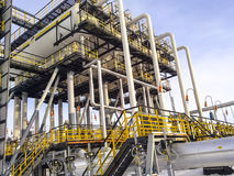 Separators are end. Equipment for oil separation. Modular oil treatment unit. Bulite for separation. Low pressure separators. Separators are end. Equipment for Stock Photos