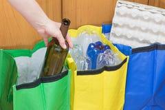 Separazione dei rifiuti di vetro Fotografia Stock Libera da Diritti