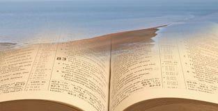 Separazione del miracolo Mosè della bibbia del suph dell'igname fotografia stock