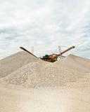 Separazione della sabbia alla cava di ghiaia Immagini Stock