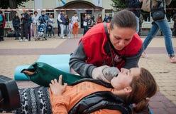 Separazione di addestramento della croce rossa Immagini Stock Libere da Diritti