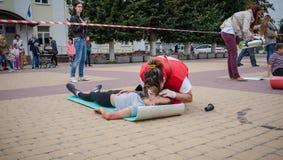 Separazione di addestramento della croce rossa Fotografia Stock Libera da Diritti