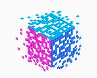Separazione di dati Ordine a caos illustrazione vettoriale
