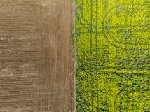 Separazione fra i campi della terra Striscia laterale fotografia stock