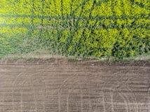 Separazione fra i campi della terra Striscia laterale fotografie stock