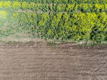 Separazione fra i campi della terra Striscia laterale immagini stock libere da diritti