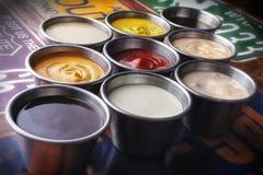 Separe las salsas Fotografía de archivo